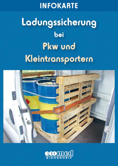 Infokarte Ladungssicherung bei Pkw und Kleintransportern