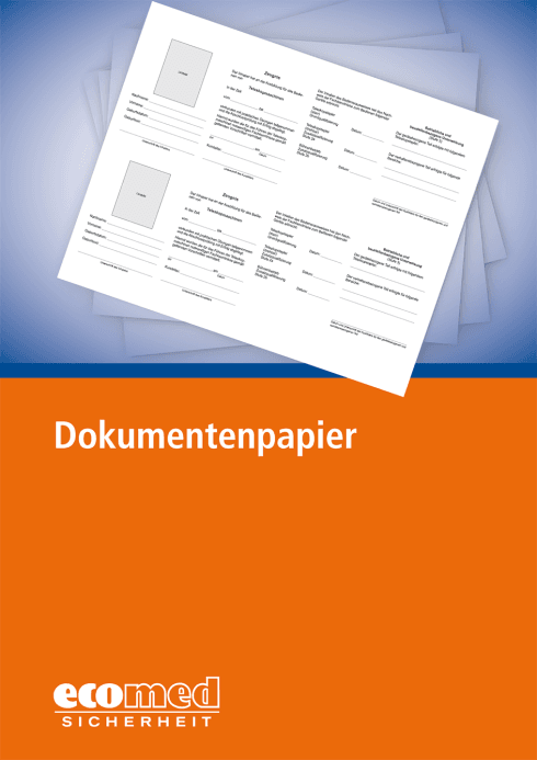 Dokumentenpapier zur Ausweiserstellung